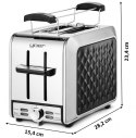 Toaster YOER Diamond T01BK with warming rack