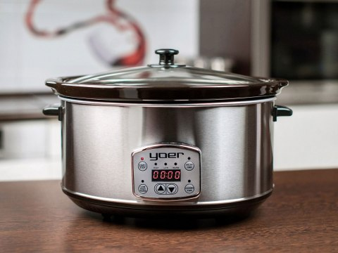 Slowcooker YOER SC6501S with ceramic pot and timer