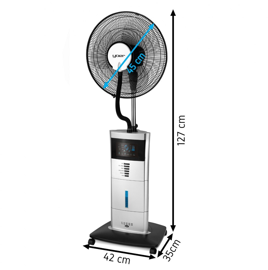 Cooling fan with humidifier YOER BREEZE BFH01S