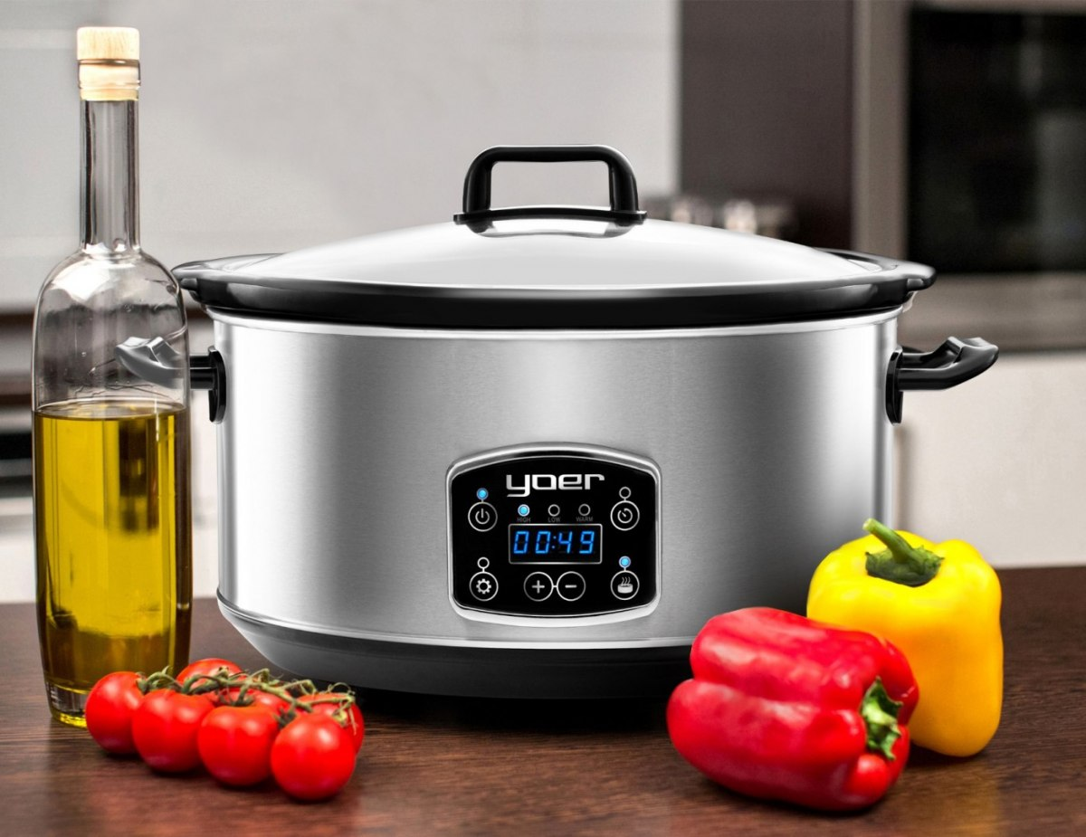 YOER CLEVER-COOK SC6502S Slow Cooker - Electric Ceramic Pot with Timer